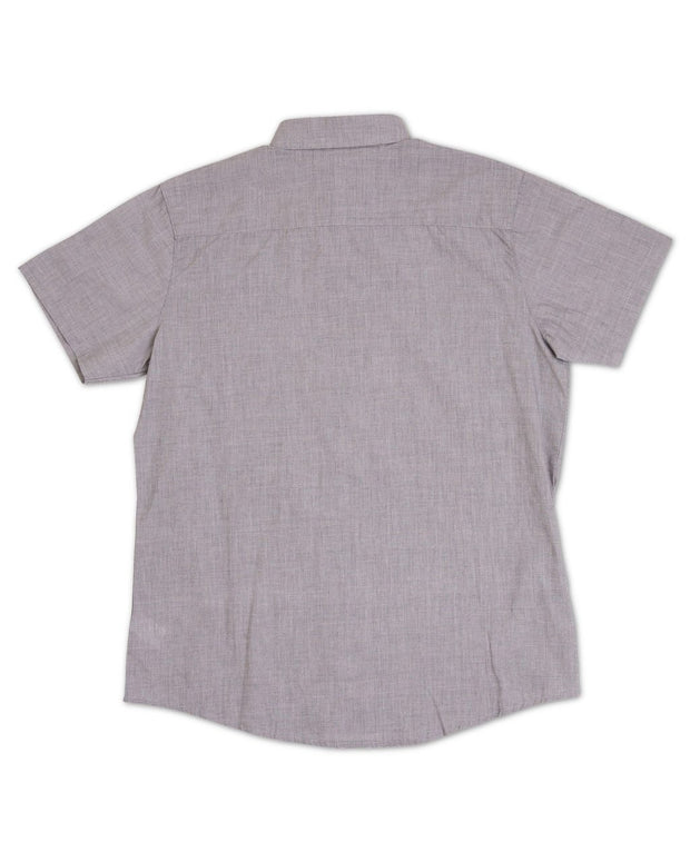 Slate Gray Short Sleeve Men's Dress Shirt