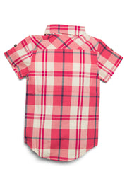 Plaid Short Sleeve Button Up