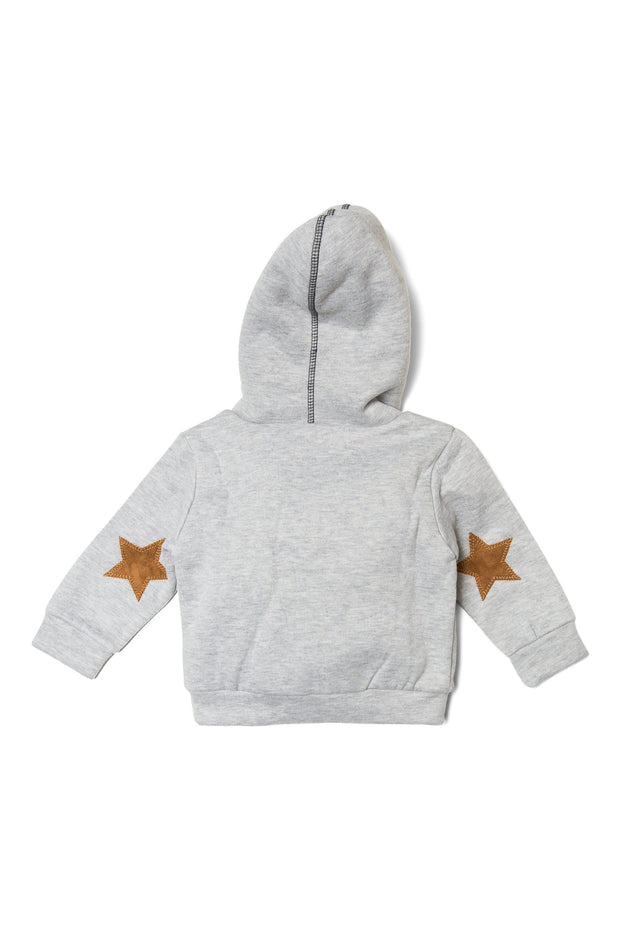 Suede Star Patch Hoodie