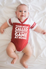 Your Mom Called Red Jersey Bodysuit