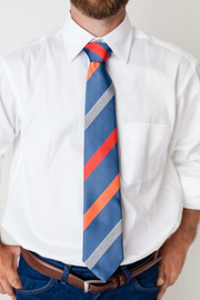 Blaze & Denim Stripe Tie