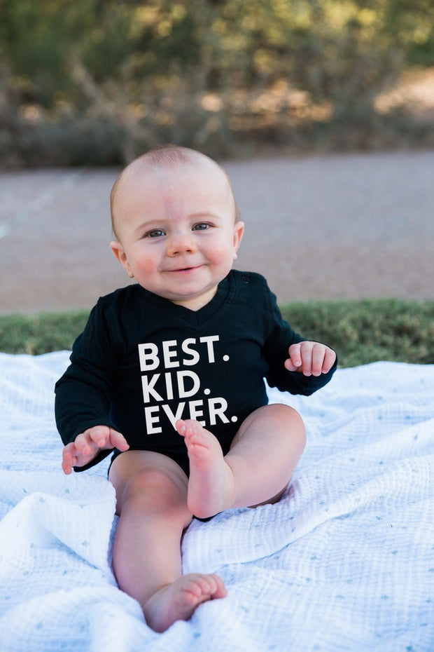 Best Kid Ever Long Sleeve Black Bodysuit