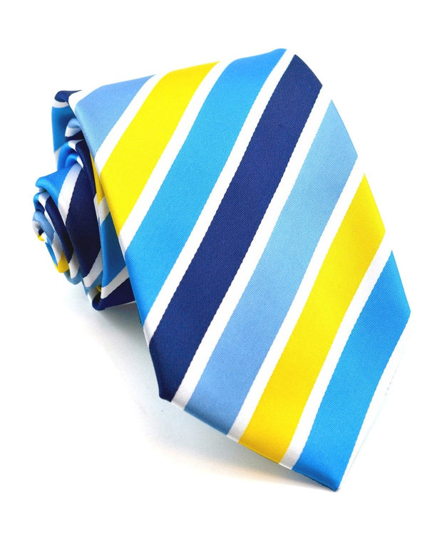 Sunshine and Blue Stripe Standard Necktie
