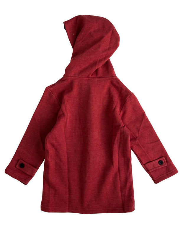 Red Toggle Clasp Sweatshirt Hoodie