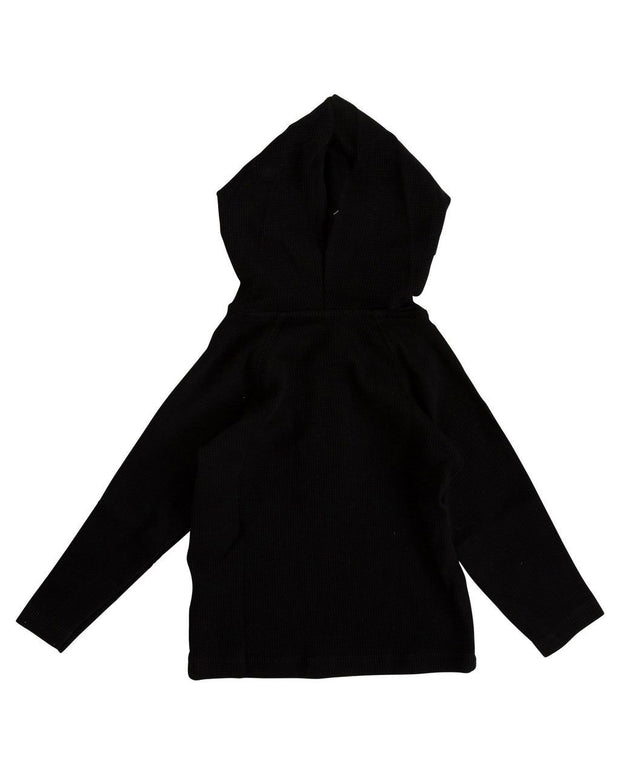 Black Thermal Hoodie Shirt