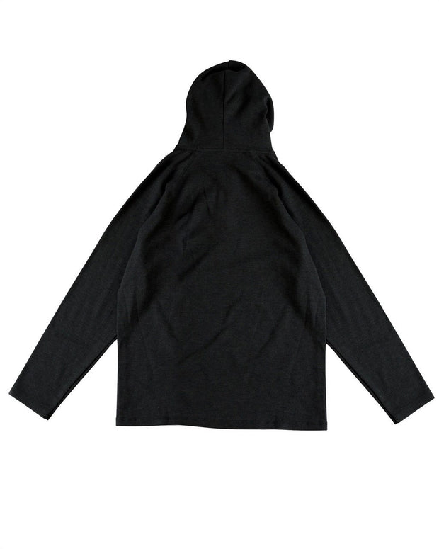 Black Men's Thermal Hoodie Shirt