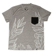 Gray & Black Tropical Print Men's Tee