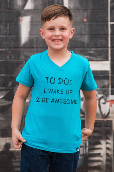 To Do List Peacock V-Neck Tween Tee