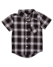 V-Neck Shirt & Button Up Bundle - Black & White