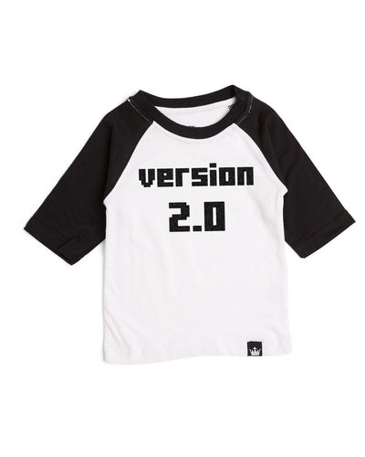 Version 2.0 Black Half Sleeve Raglan Tee