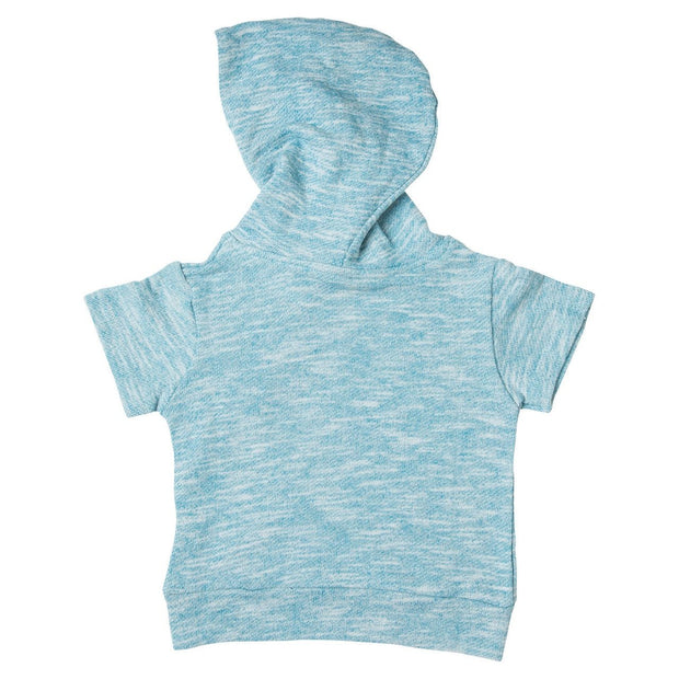 Blue French Terry Asymmetrical Zip Up Hoodie