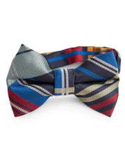 Scarlet and Navy Plaid Tie