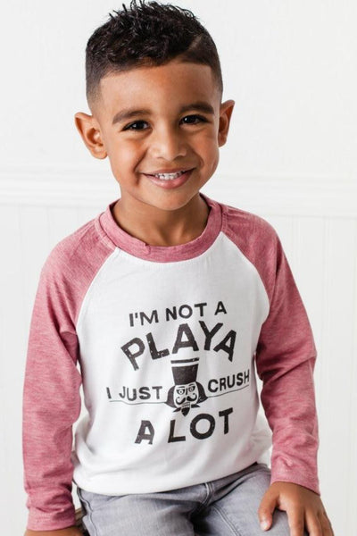 I'm Not A Playa Muted Red Raglan Shirt