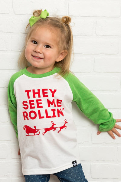 They See Me Rollin' Raglan Shirt
