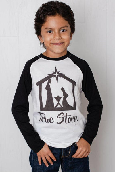 True Story Black Raglan Shirt
