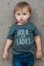 Hola Ladies Graphite Crew Neck Tee