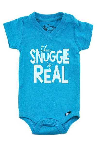 The Snuggle Is Real Peacock V-Neck Bodysuit
