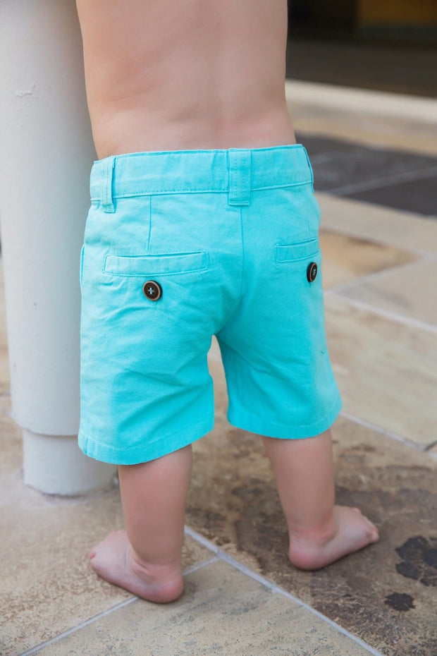 Teal Canvas Shorts