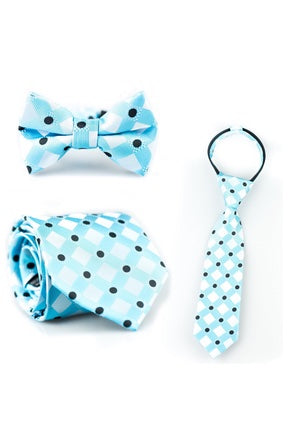 Aqua Lattice Tie