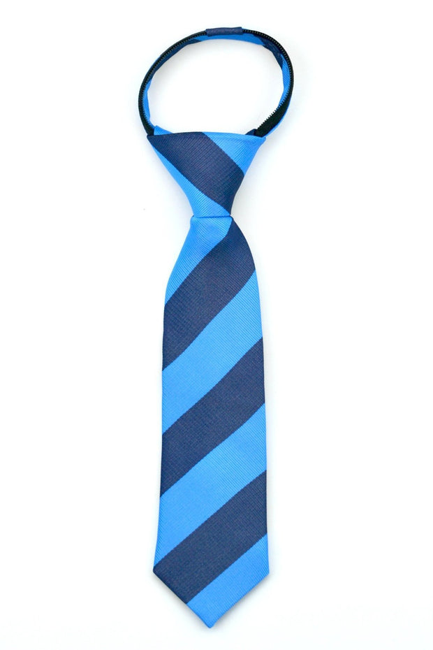 Azure and Denim Stripe Tie