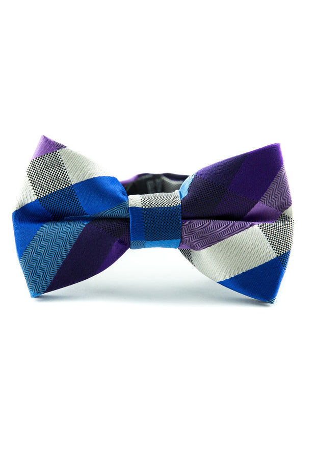 Azure and Violet Plaid Tie