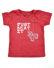 Just Beat It Red V-Neck Tee