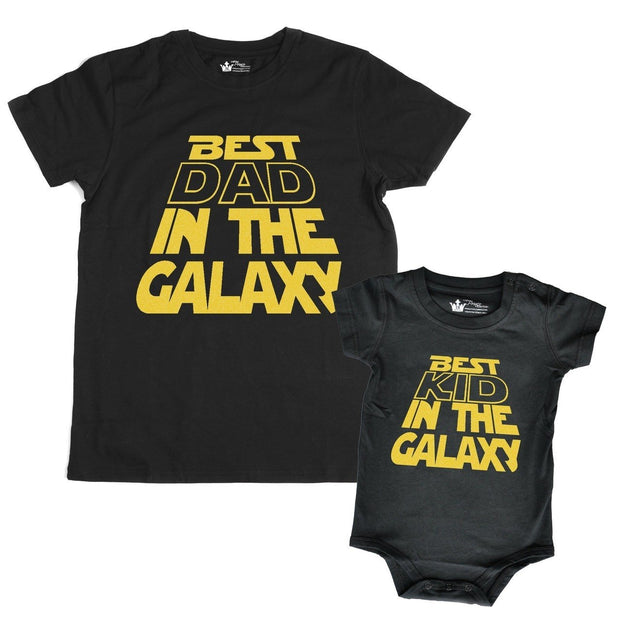 Best Kid In the Galaxy Black Crew Neck Bodysuit