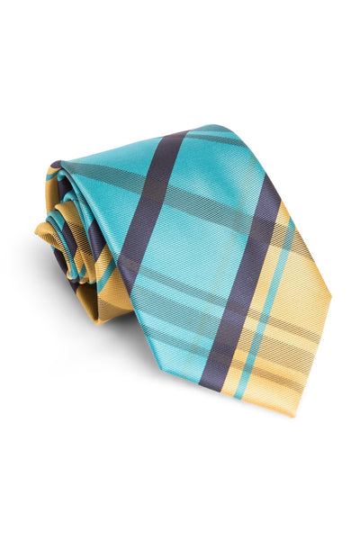 Banana and Blue Plaid Tie