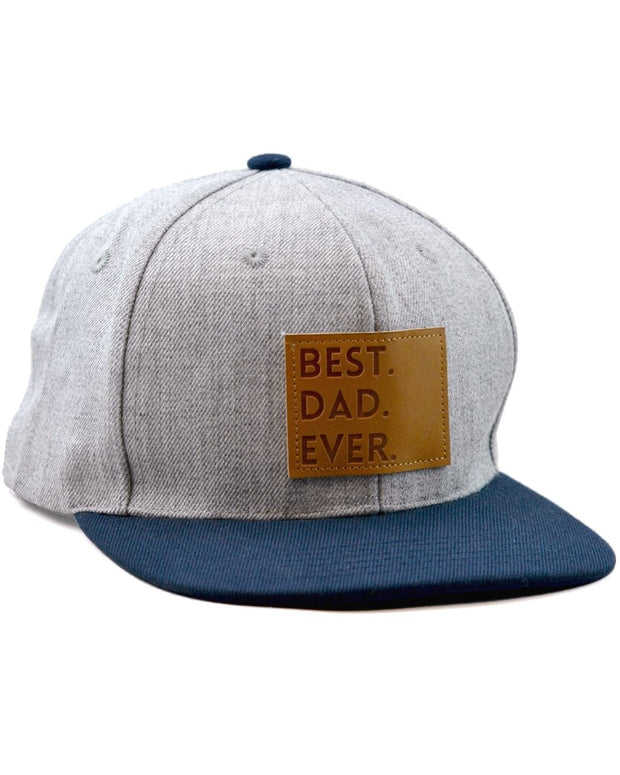 Best Dad Ever Snapback Hat in Gray