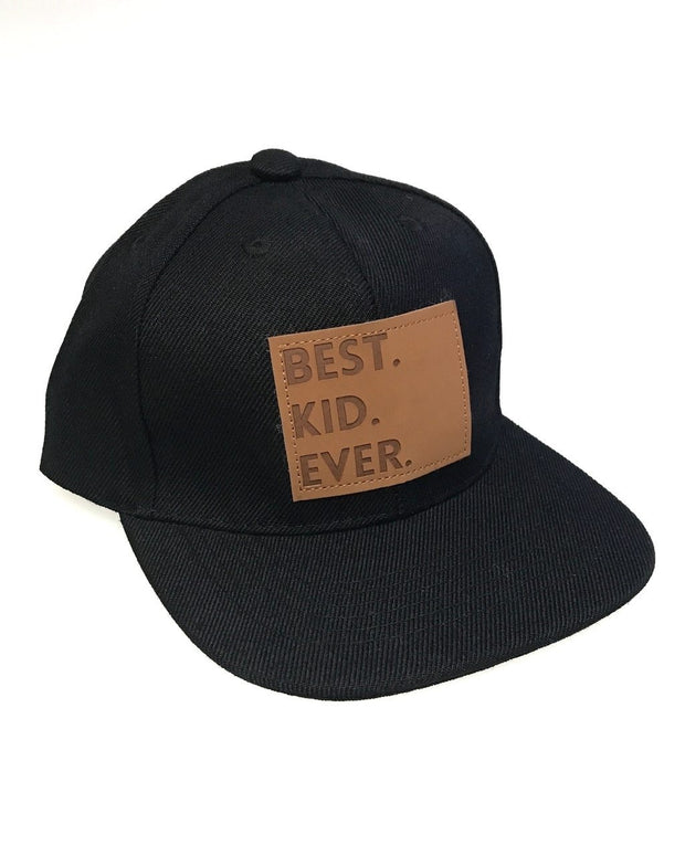 Best Kid Ever Snapback Hat in Black