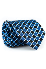 Black and Navy Squares Tie