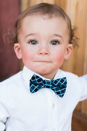 Black and Navy Squares Bow Tie (Boys and Men)