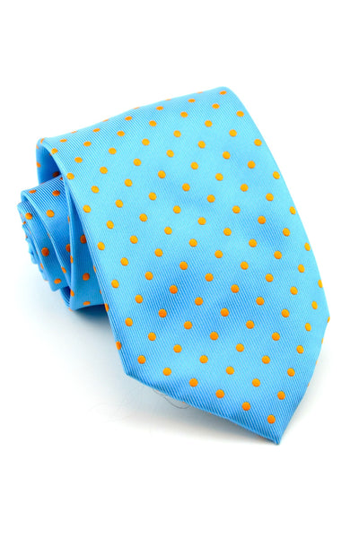 Blue and Orange Dots Tie