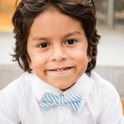 Blue Seersucker Bow Tie (Boys and Men)