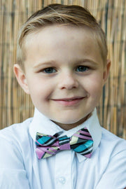 Bubble Gum and Black Plaid Bow Tie (Boys and Men)
