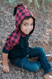 Buffalo Check Hooded Raglan Shirt