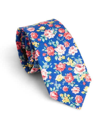 Royal and Rose Floral Standard Necktie (Adult and Youth)
