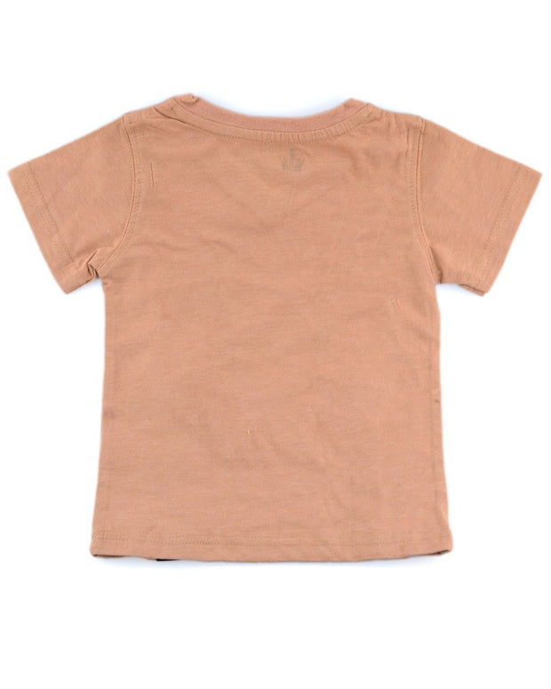 Camel V-Neck T-Shirt
