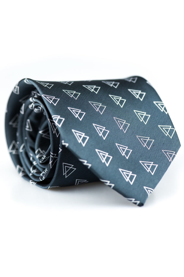 Charcoal Triangles Tie