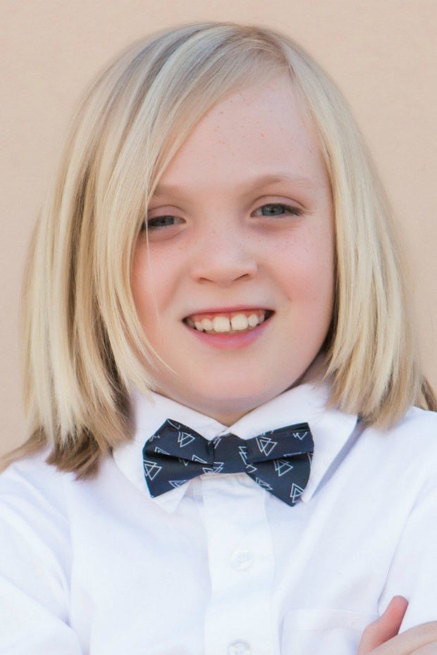 Charcoal Triangles Bow Tie (Boys and Men)