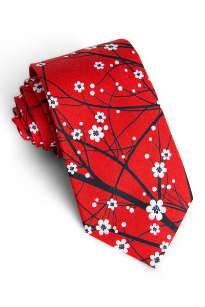 Cherry Blossom Floral Tie