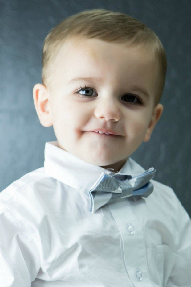 Cloud and Periwinkle Stripe Bow Tie (Boys and Men)