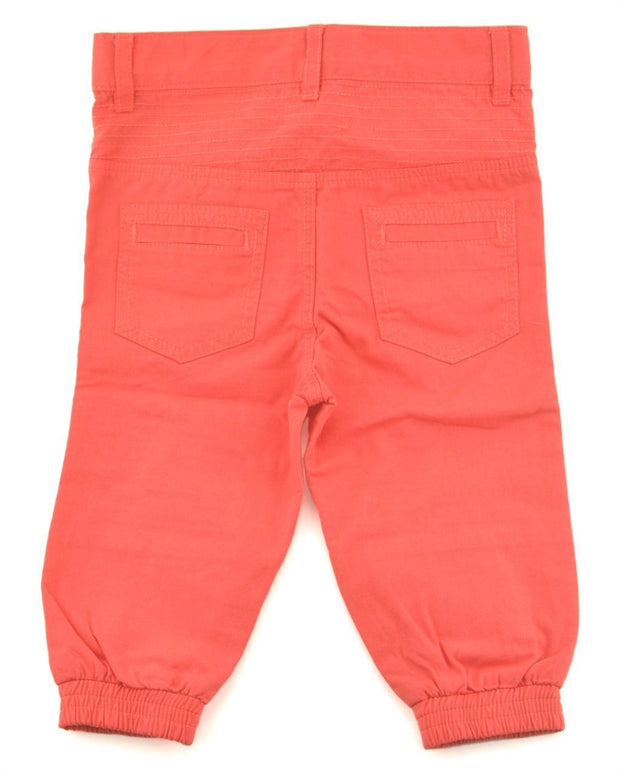 Coral Canvas Moto Pants