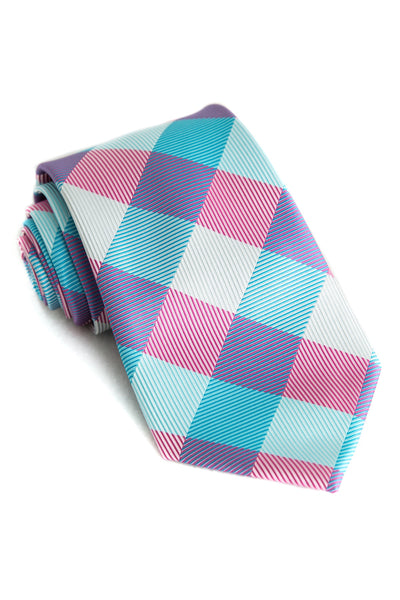 Cotton Candy Check Tie