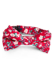 Crimson and Sky Floral Tie