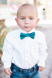 Deep Teal Solid Bow Tie (Boys and Men)