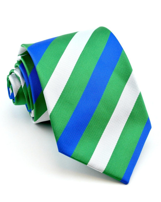 Emerald and Cobalt Stripe Full Size Tie