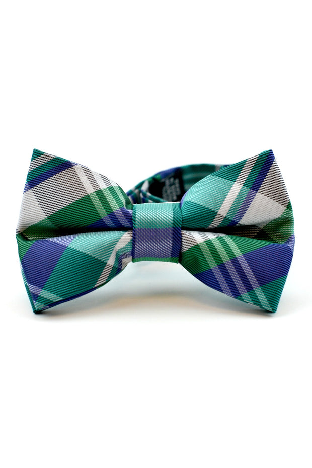 Emerald and Indigo Plaid Tie