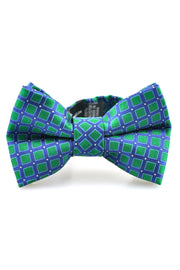 Emerald and Navy Squares Tie