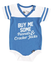 Buy Me Some Peanuts Blue Jersey Bodysuit